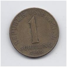 AUSTRIJA 1 SCHILLING 1966 KM # 2886 VF