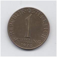AUSTRIJA 1 SCHILLING 1970 KM # 2886 VF