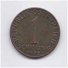 AUSTRIJA 1 SCHILLING 1973 KM # 2886 VF