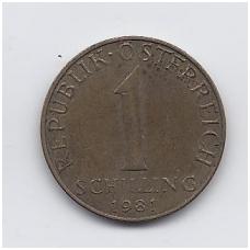 AUSTRIJA 1 SCHILLING 1981 KM # 2886 VF