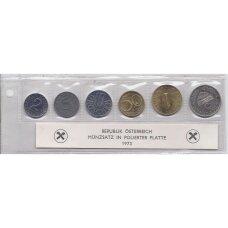 AUSTRIJA 1973 m. proof monetų rinkinys