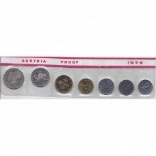 AUSTRIJA 1976 m. 7 monetų proof rinkinys