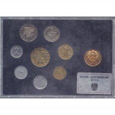 AUSTRIJA 1982 m. oficialus bankinis proof monetų rinkinys