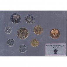 AUSTRIJA 1983 m. oficialus bankinis proof monetų rinkinys