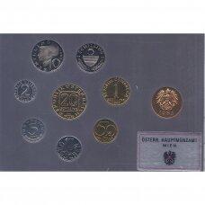 AUSTRIJA 1985 m. oficialus bankinis proof monetų rinkinys