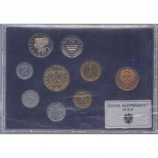AUSTRIJA 1987 m. oficialus bankinis proof monetų rinkinys