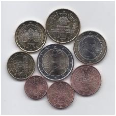 AUSTRIJA 2019 m euro monetų rinkinys