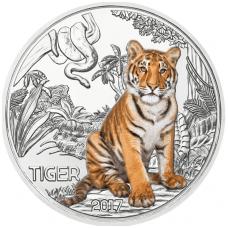 AUSTRIJA 3 EURO 2017 KM # new UNC Tigras