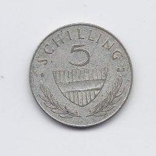 AUSTRIJA 5 SCHILLING 1961 KM # 2889 VF