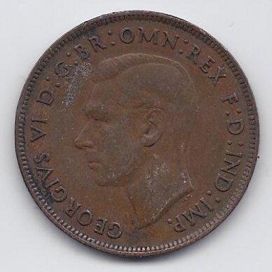 AUSTRALIJA 1 PENNY 1938 KM # 36 VF 2