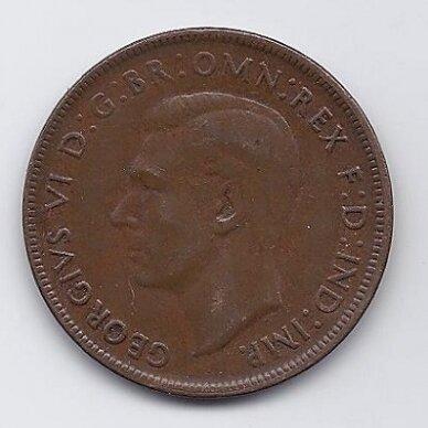 AUSTRALIJA 1 PENNY 1941 KM # 36 VF 2