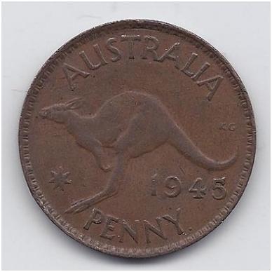 AUSTRALIJA 1 PENNY 1945 KM # 36 VF