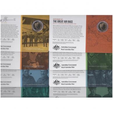AUSTRALIJA 8 X 1 DOLLAR 2019 KM # new UNC DIDŽIOSIOS ORO LENKTYNĖS ( spec. dėžėje ) 2