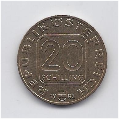 AUSTRIJA 20 SCHILLING 1982 KM # 2955.1 AU 2