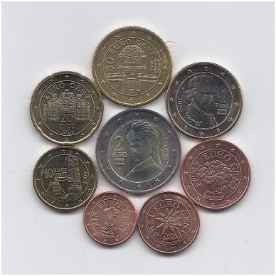 AUSTRIJA 2006 m. euro monetų komplektas