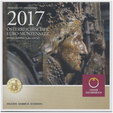 AUSTRIJA 2017 m. OFICIALUS BANKINIS RINKINYS