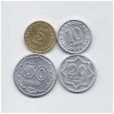 AZERBAIDŽANAS 1992 - 1993 m. 4 monetų rinkinukas