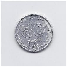AZERBAIDŽANAS 50 QAPIK 1993 KM # 4a XF