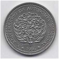 AZORAI 100 ESCUDOS 1986 KM # 45 AU