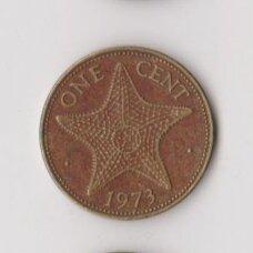BAHAMAI 1 CENT 1973 KM # 16 VF