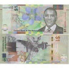 BAHAMAI 1 DOLLAR 2017 P # new AU