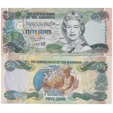 BAHAMAI 1/2 DOLLAR 2001 P # 68 XF / AU