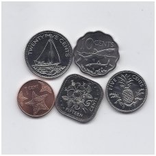BAHAMAI 2004 - 2007 m. 5 monetų rinkinukas