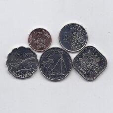 BAHAMAI 2005 - 2015 m. 5 monetų rinkinukas