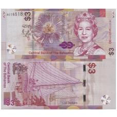 BAHAMAI 3 DOLLARS 2019 P # new UNC