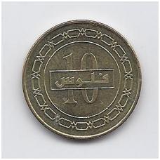 BAHREINAS 10 FILS 2010 KM # 28.2 XF