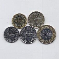 BAHREINAS 2007 - 2011 m. 5 monetų rinkinukas