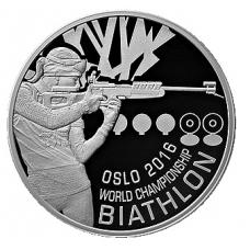 BELARUS 1 ROUBLE 2016 BIATHLON