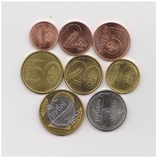 BELARUS 2009 CIRCULATING 8 COINS SET ALL HIGH GRADE