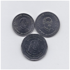 BANGLADEŠAS 2010 - 2012 m. 3 monetų rinkinukas