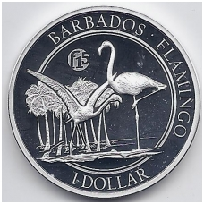 BARBADOSAS 1 DOLLAR 2017 KM # new PROOF