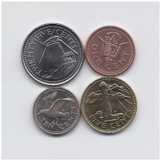 BARBADOSAS 1973 - 2008 m. 4 monetų komplektas