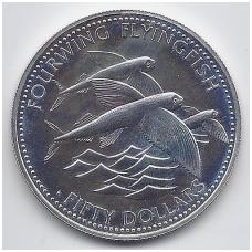 BARBADOSAS 50 DOLLARS 1984 KM # 42 UNC ŽUVYS SKRAIDUOLĖS - FAO