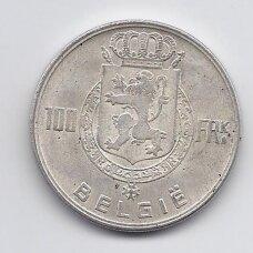 BELGIJA 100 FRANCS 1948 KM # 139 VF