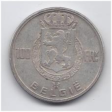 BELGIJA 100 FRANCS 1949 KM # 139 VF