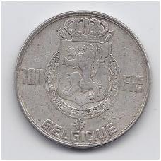 BELGIJA 100 FRANCS 1950 KM # 138.1 VF
