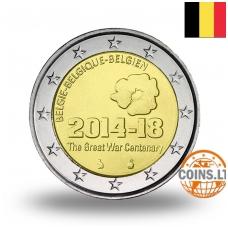 BELGIJA 2 EURAI 2014 WWI šimtmetis