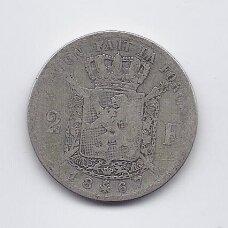 BELGIJA 2 FRANCS 1867 KM # 30 F