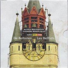 BELGIJA 2008 m. OFICIALUS EURO MONETŲ RINKINYS SU PROGINIS MEDALIU