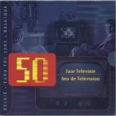 BELGIJA 2003 m. OFICIALUS PROGINIS EURO MONETŲ RINKINYS