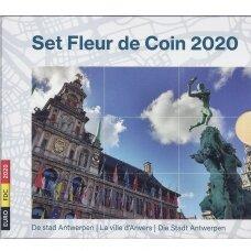 BELGIJA 2020 m. OFICIALUS EURO MONETŲ RINKINYS SU DVIEM 2.50 EURO MONETOMIS