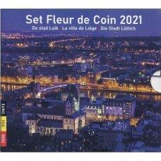 BELGIJA 2021 m. Oficialus euro monetų rinkinys su dviem 2.50 euro monetomis
