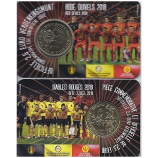 BELGIJA 2.50 EURO 2018 KM # NEW RED DEVILS