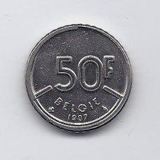 BELGIJA 50 FRANCS 1987 KM # 169 VF