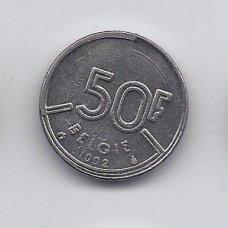 BELGIJA 50 FRANCS 1992 KM # 169 VF