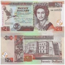 BELIZAS 20 DOLLARS 2012 P # 72 UNC